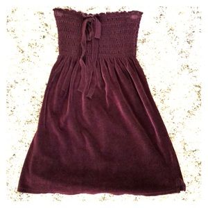 Juicy Couture Strapless Babydoll Velour Tunic